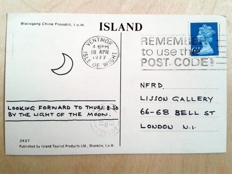 Postcard dated 18 April 1977, back