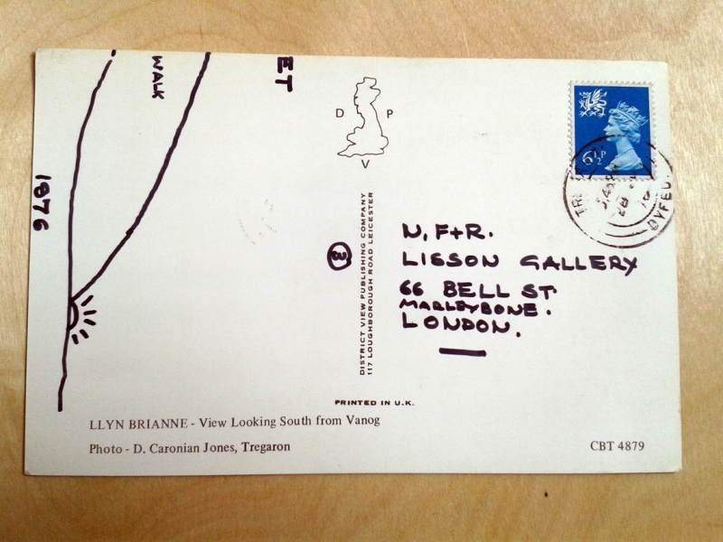 A Three Day Walk dated 28 June 1976, Postcard three back.