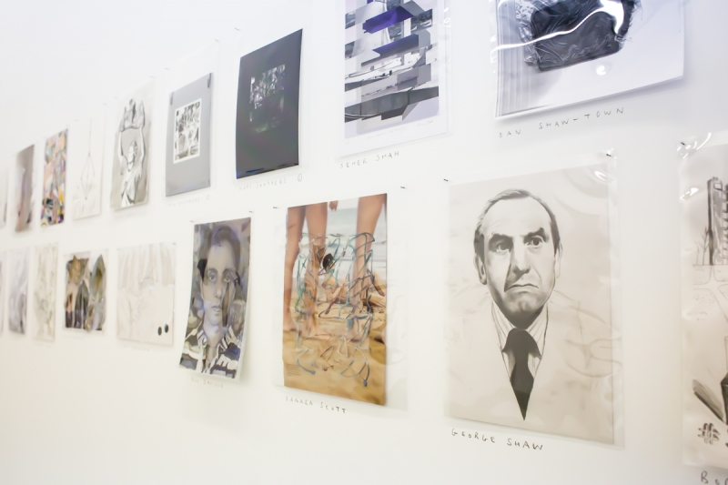 installation image of Drawing Biennial 2013