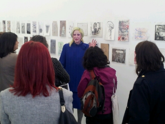 Julie Verhoeven talking through her selection